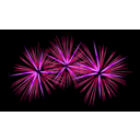 download Fireworks clipart image with 225 hue color