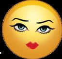 Pretty Sexy Lady Smiley Emoticon