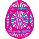 download Easter Egg Blue clipart image with 135 hue color