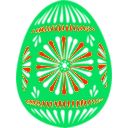 download Easter Egg Blue clipart image with 315 hue color
