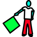 download A Semaphore clipart image with 135 hue color