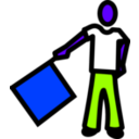 download A Semaphore clipart image with 225 hue color