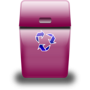 download Blue Trash Can clipart image with 135 hue color