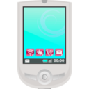 download Modern Pda With Apps clipart image with 135 hue color