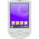 download Modern Pda With Apps clipart image with 225 hue color