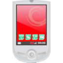 download Modern Pda With Apps clipart image with 315 hue color