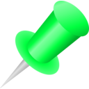 download Push Pin Icon clipart image with 135 hue color