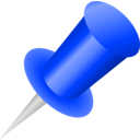 download Push Pin Icon clipart image with 225 hue color