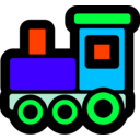 download Toy Train Icon clipart image with 135 hue color