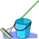 download Mop And Bucket clipart image with 45 hue color