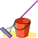 download Mop And Bucket clipart image with 225 hue color