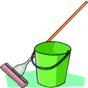 download Mop And Bucket clipart image with 315 hue color