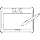 download Graphic Tablet clipart image with 225 hue color
