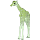 download Baby Giraffe clipart image with 45 hue color