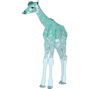 download Baby Giraffe clipart image with 135 hue color