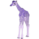 download Baby Giraffe clipart image with 225 hue color