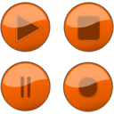 Orange Glossy Buttons