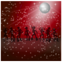 download Disco Dancers Remix 2 clipart image with 135 hue color