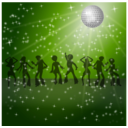 download Disco Dancers Remix 2 clipart image with 225 hue color