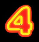 Neon Numerals 4
