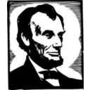 download Abraham Lincoln clipart image with 225 hue color
