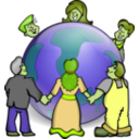 download Embrace The World clipart image with 45 hue color