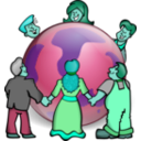 download Embrace The World clipart image with 135 hue color