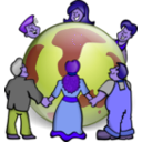 download Embrace The World clipart image with 225 hue color