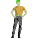 download Assertive Guy By Rones Posterized clipart image with 45 hue color