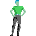 download Assertive Guy By Rones Posterized clipart image with 135 hue color