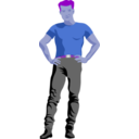download Assertive Guy By Rones Posterized clipart image with 225 hue color