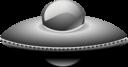 Ufo In Metalic Style