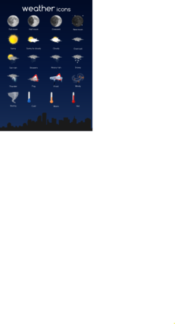 Weather icon complete set clipart i2clipart royalty for Embed a forum into your website