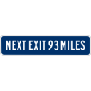 download Next Exit 93 Miles clipart image with 45 hue color