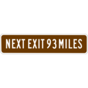 download Next Exit 93 Miles clipart image with 225 hue color