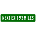 download Next Exit 93 Miles clipart image with 315 hue color