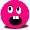 Angry Surprised Smiley Pink Emoticon