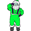 download Dancing Santa clipart image with 135 hue color