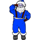 download Dancing Santa clipart image with 225 hue color