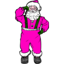 download Dancing Santa clipart image with 315 hue color