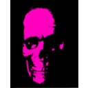 download Red Skull clipart image with 315 hue color