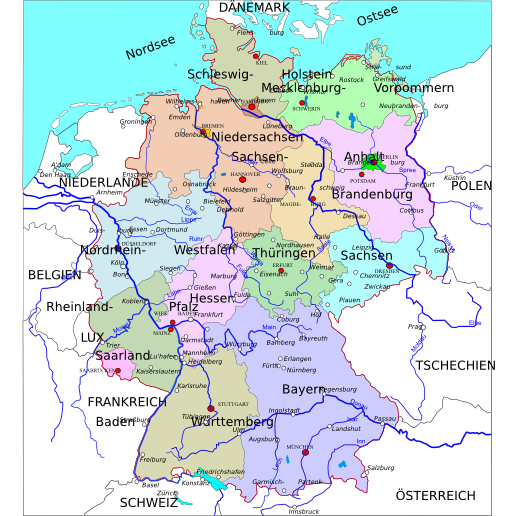 Political Map Of Germany Clipart IClipart Royalty Free - Germany map clipart