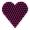 download Heart In Heart Dark clipart image with 315 hue color