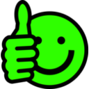 download Thumbs Up Smiley clipart image with 45 hue color