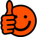 download Thumbs Up Smiley clipart image with 315 hue color