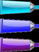 Color Tube Blue Purple Cyan