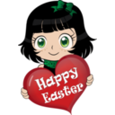 Manga Happy Easter Emoticon Smiley