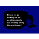 download Spock No Killing clipart image with 45 hue color