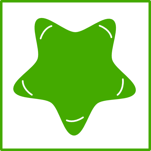 Eco Green Star Icon