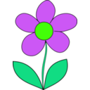 download Simple Flower clipart image with 45 hue color